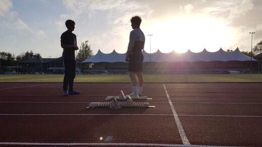 Athletes are training at the Julie Rose Stadium, Ashford