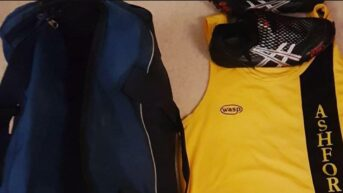 Athletes kit ready for their athletics competition the next day.